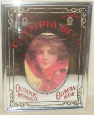 Vintage Olympia Beer Bar Mirror Sign Framed