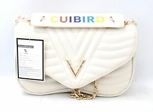 CUIBIRD Cream Faux Leather Quilted Chain Handle Handbag Shoulder Bag - SB4