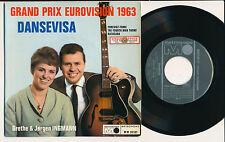"""EUROVISION 1963 EP 7"""" FRANCE GRETHE ET JORGEN INGMANN DANSEVISA+"""