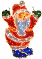Large Santa LED Rope Lights Garden Roof Xmas Decor Wall Christmas Decoration New