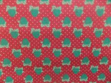 WtW Fabric Vintage St Nicole RJR Apple Bow Dot Fruit Country Folk Quilt