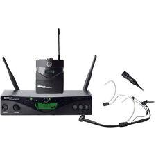 New AKG WMS 470 Presenter Set Wireless Lavalier and Headworn Microphone System!