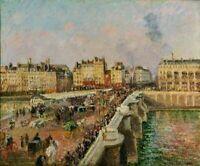 Camille Pissarro New Bridge Afternoon Cityscape Art Print Giclee CANVAS SM 8x10