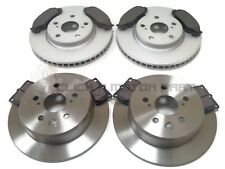 FRONT & REAR BRAKE DISCS & PADS CHECK DISC FOR LEXUS IS220 IS220d DIESEL IS250