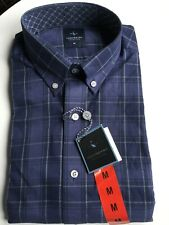 Mens Blue TAILORBYRD Long Sleeved Shirt M New Rrp £75