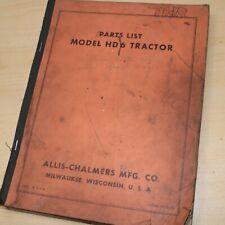 Allis Chalmers Hd6 Tractor Dozer Crawler Parts Manual Book Catalog Ac Tpl 271