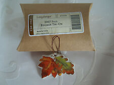 LONGABERGER~FALL FOLIAGE~TIE ON~Fall Leaves & Acorns w/copper wire~NEW IN BOX!