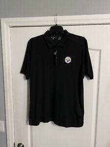 NWT Antigua Golf L NFL Pittsburgh Steelers Golf Shirt