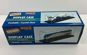 IMEX Truck - Train Model Display Case with Black Base #2519