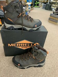 Mens Merrell Phaserbound Mid Wp Soft Toe Work boot New In Box 9 Med
