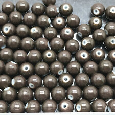 4mm 6mm 8mm 10mm Round Glass Pearl Spacer Loose Beads Jewelry Making Wholesale