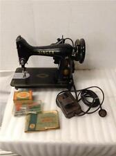 SINGER Sewing Machine Model 99.   Manual & Attachments Ser# EN046657. (SM 216)