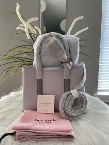 New kate spade new york Margaux Medium Women's Satchel Bag Lilac Multi Gift