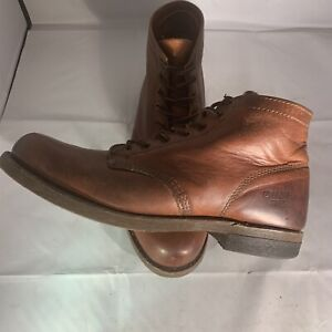 FRYE Men's Brown Leather PRISON BOOTS Size 10 - MSRP $378