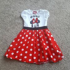 Red And White Spotted Minnie Mouse Dress 2-3 Years