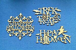 MDF Wooden Halloween   Door Plaque Gifts  Card Topper Embellishments