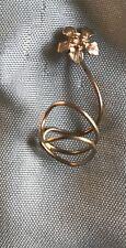 Metal Wire Ear Cuff Jewelry Flower Earring Piece Silver