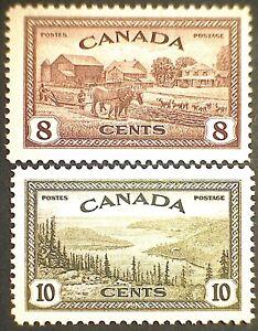 Canada Scott #268 & #269 George VI Peace Issue pair  Mint NH