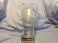 "Lovely CORNFLOWER GLASS VASE 2-12 petal flowers 9.5"" heavy w/ thick glass bottom"