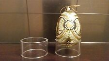 "3 Round XLarge 2"" Display Stand Ostrich Emu Holiday Eggs Ornaments"