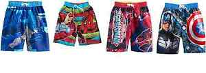 BOYS CHARACTERS SWIM BOARD SHORTS MULTIPLE PATTERNS/SIZES MSRP$25 NEW WITH TAGS