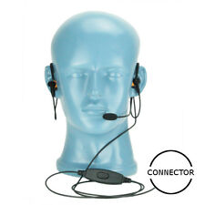 BTH Headset NC Mic PTT Dual In-Ear Noise Attenuation for Kenwood 2-Pin Series