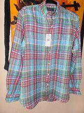 Ralph Lauren Long Sleeve Check Shirt 100 Linen Size Small