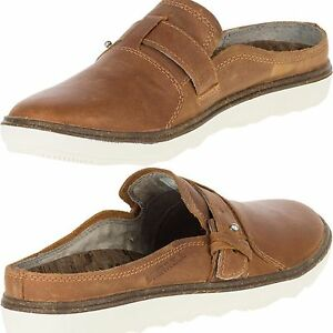 Merrell Women's Breathable AROUND TOWN  Slip-Ons Brown LEATHER-Shoes BNIB