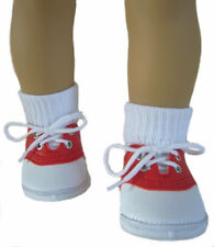 """Red Saddle Shoes Socks fits 18"""" American Girl Molly Maryellen Doll Clothes"""