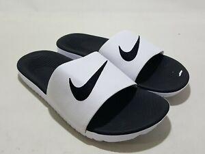 Nike Kawa White/Black  Flip flop 832646-100 Youth 5