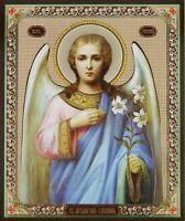 Archangel Gabriel with flowers Christian Orthodox Icon  Ангел Габриель 15x18cm