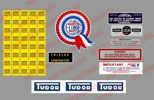 MINI COOPER (mk1 mk2) STICKER SET DECALS ENGINE RESTORATION