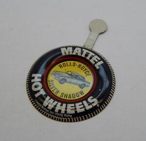 Redline Hotwheels Button Badge Metal Hong Kong Rolls-Royce Silver Shadow R17280