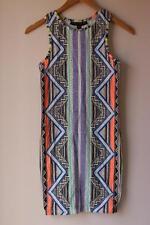 BNWT Top Shop Petite Aztec geometric retro print dress for women size 6 – 8