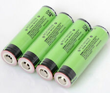 4pcs Panasonic NCR18650B 3400mAh 3.7V Rechargeable Li-ion Battery with PCB