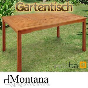 Gartentisch Terrassentisch Esstisch Gartenmöbel Holz Tisch rechteckig Montana
