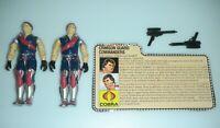 Lot 1985 GI Joe Cobra Crimson Guard Commanders Twins Tomax & Xamot w/ File Card