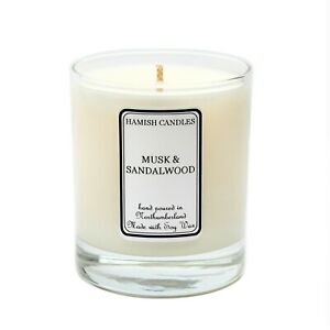 Musk & Sandalwood - Personalised Soy Wax Candle - 20cl