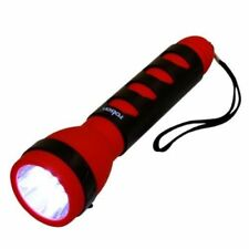 NEW Rolson 61744 10 LED Large Rubber Grip Torch Red