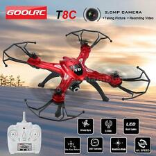 Original T8C 2.4GHz 4CH 6-axis Gyro 2.0MP RC Quadcopter with 360° Function Y5W9