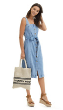 Country Road,BELTED DENIM DRESS