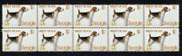 BEAGLE YEAR OF THE DOG STRIP OF 10 MINT VIGNETTE STAMPS 1