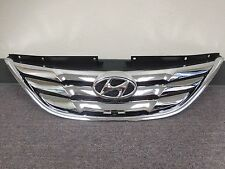 Front Radiator Upper Grille For Hyundai Sonata 2011-2012-2013 / Emblem included