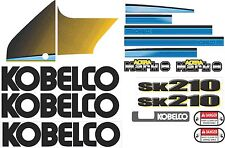 Kobelco SK210LC Mark 8 Excavator Decal Kit - very high quality aftermarket decal