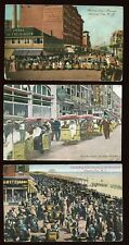 Amazing Lot of 3 Different Rolling Chair Parade Postcards Atlantic City NJ B4363