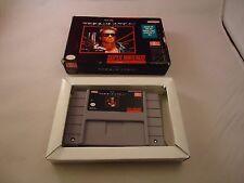 The Terminator  (Super Nintendo SNES, 1993) w/ Box game WORKS! Terminator 1 #S1