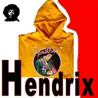 AUTHENTIC JIMI HENDRIX SWEATSHIRT FLEECE PRINTED GRAPHIC PULLOVER HARD ROCK 2XL