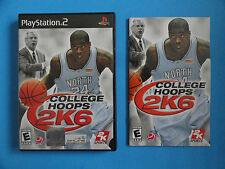 NO GAME- PS2 COLLEGE HOOPS 2K6 - CASE & MANUAL ONLY - NO GAME