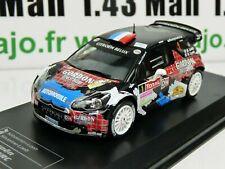 RD24B 1/43 IXO Direkt Rallye : CITROËN DS3 WRC Condroz 2013 S.LOEB / S.LOEB