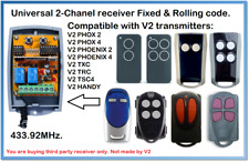 V2 Compatible Universal 2-Channel receiver 12-24V AC/DC 433.92MHz.